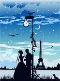 Свадьбы в лунном свете — Cтоковый вектор