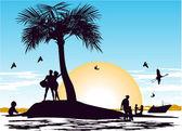 Paradise Island — Stock Vector