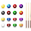 Billiard balls - Stock Vector