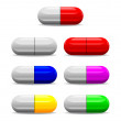 Icon of seven health pills — Stock Photo