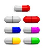 Icon of seven health pills — Stock Photo