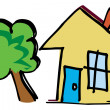 Stock Photo: House tree logo