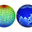 3d globe logo — Stock Photo