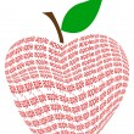 Text apple — Stock Photo