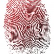 Blue fingerprint — Stock Photo
