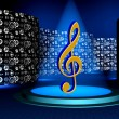 Music logo — Stock Photo #10108492