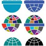 Globe logo — Stock Photo