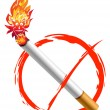 Stock Photo: No smoking logo
