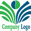 Leaf logo — Stock Photo