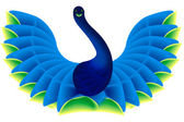 Peacock shape — Stock Photo