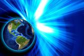Mundo de blue-ray — Foto de Stock