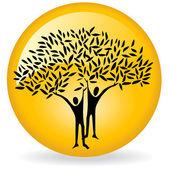 Człowiek drzewo logo — Zdjęcie stockowe