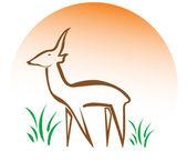 Geyik logosu — Stok fotoğraf
