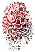 Blue fingerprint — Stock Photo