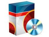 Software cd box — Stock Photo