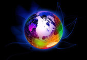 Colourful globe — Stock Photo