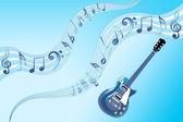 Musik gitarr — Stockfoto