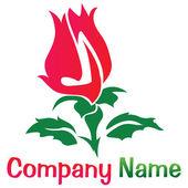 Rose logo — Stock Photo