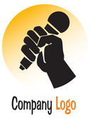 Mike logo — Stock Photo