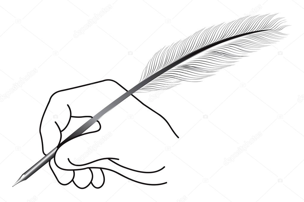 Pena Mão Escrevendo