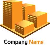 3d building logo — Stock Vector