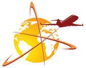 World travel logo — Stock Vector