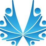 Couples logo — Stock Vector