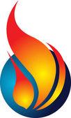 Fire logo — Stock Vector