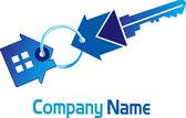 Home key logo — Stock Vector