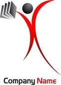 Man logo — Stock Vector