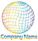 Corporate globe logo — Stock Vector