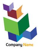 Logotipo corporativo caja — Vector de stock