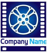 Ie film reel logo — Stock Vector