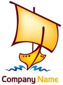 Stylish boat logo — Stock Vector