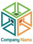 Corporate box logo — Stock Vector