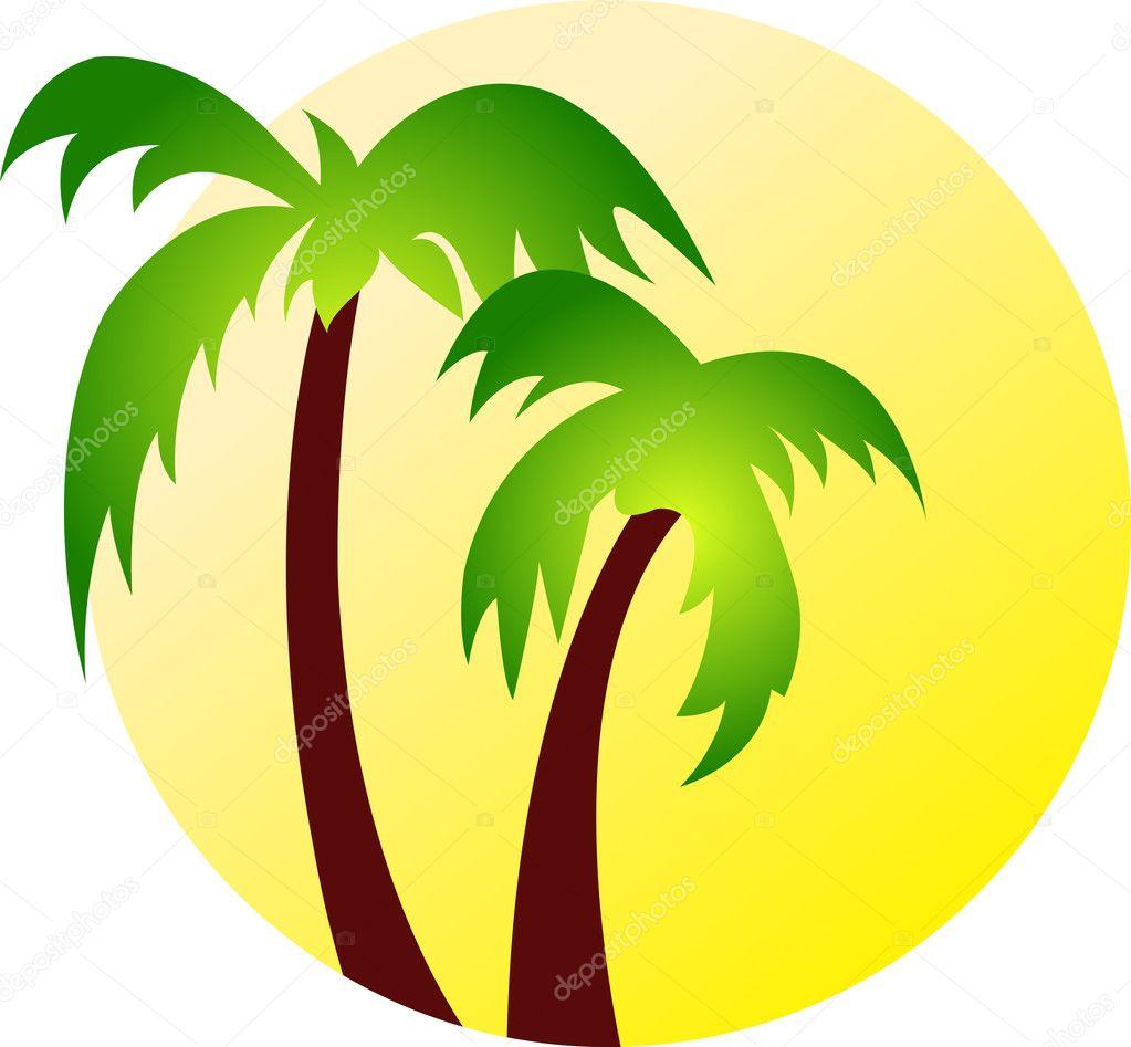 hindistan cevizi ağacı logosu � stok vekt246r 169 magagraphics
