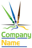 Brush logo — Stock Vector