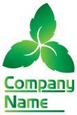 Leaf logo — Stock Vector