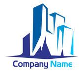 Building logo — Stock Vector