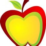 Apple logo — Stock Vector