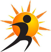 Sun human logo — Stock Vector