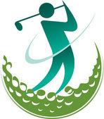 ゴルファー — ストックベクタ