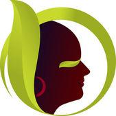 Face leaf — Stock Vector