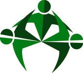 Human logo — Stock Vector