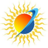 Sun logo — Stock Vector