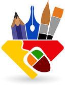 Disegno logo — Vettoriale Stock