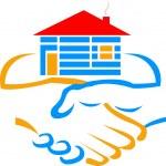 Handshake builder logo — Stock Vector