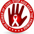 Stop aids logo — Stock Vector