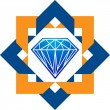 Diamond logo - Stockvektor