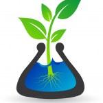 Test tube plant — Stock Vector #9744857